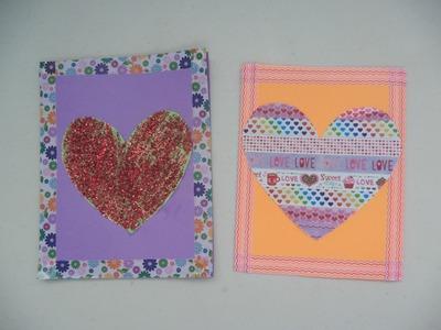 DIY- tarjetas con corazones - Creative Flower
