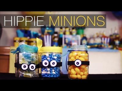 Hippie  Minions. Como hacerlos con frascos reciclados. DIY Alejandra Coghlan