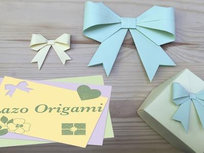 Lazo Origami. Mis básicos de Origami (papiroflexia) para proyectos Scrapbook #3