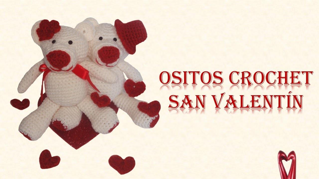 Osito Amigurumi - Crochet San Valentín - Parte 2 (acabados, flor y sombrero)