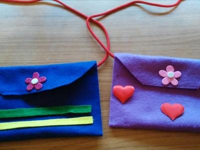 Que divertido es aprender haciendo un bolso de fieltro.manualidades