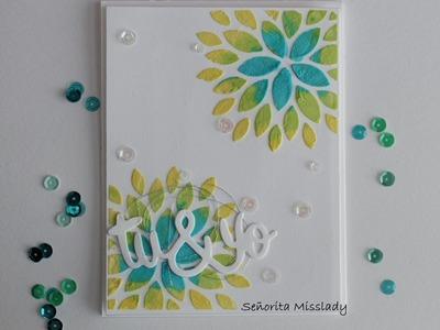 """#4. Scrap & manualidades. """"tu&yo flower"""" card"""