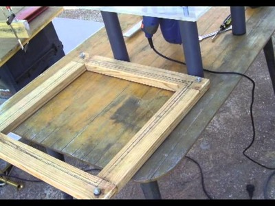Bastidor de madera cuadrado,  50X50