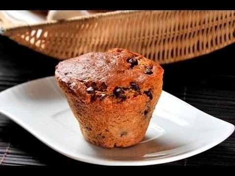 Bollitos de plátano con chocolate - Banana Chocolate Chip Muffins