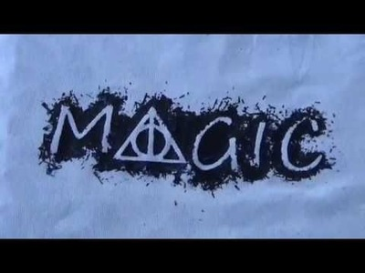 DIY Camisetas originales de Harry Potter con ceras | Easy Harry Potter t-shirts | Fácil, paso a paso
