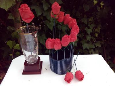 Diy  Centro floral con servilletas