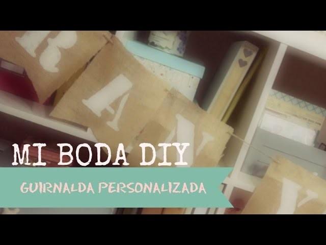 DIY Guirnalda de Arpillera Personalizada.Tutorial Cómo hacer Stencil en la Cameo.