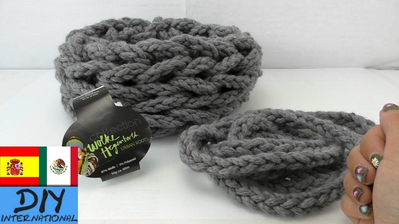 DIY Tutorial: bufanda con las manos !!!  Bufanda loop tejida a mano - paso a paso!