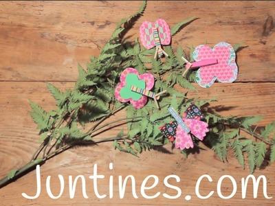 Manualidades con pinzas de madera: Mariposas