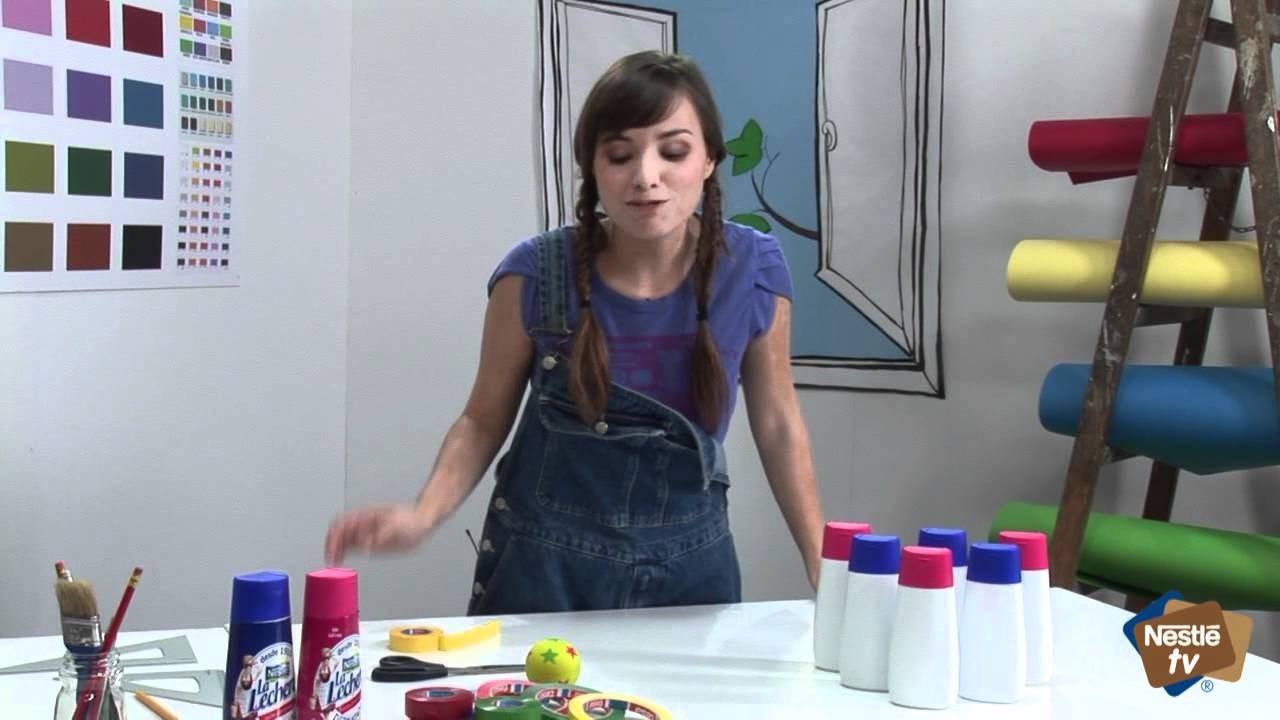 Manualidades infantiles: cómo hacer un juego de bolos con envases de La Lechera