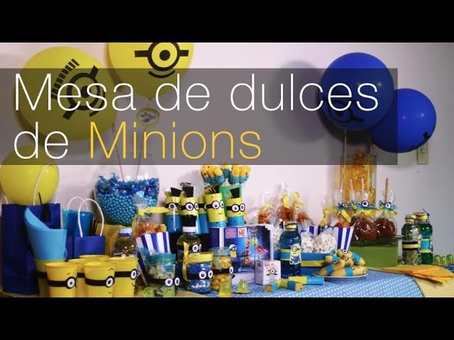Mesa de dulces de Minions, platanitos Minions DIY Alejandra Coghlan