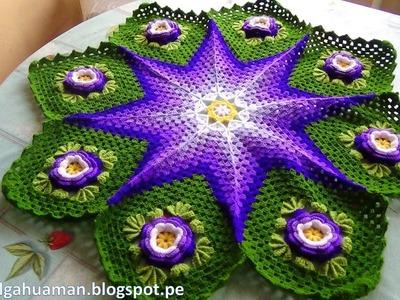 Tapete o Carpeta tejido a crochet paso a paso video 2
