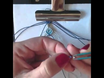 Tutorial de Pendientes, aros, earrings macrame