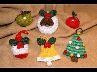 Adornos para arbol de navidad a crochet