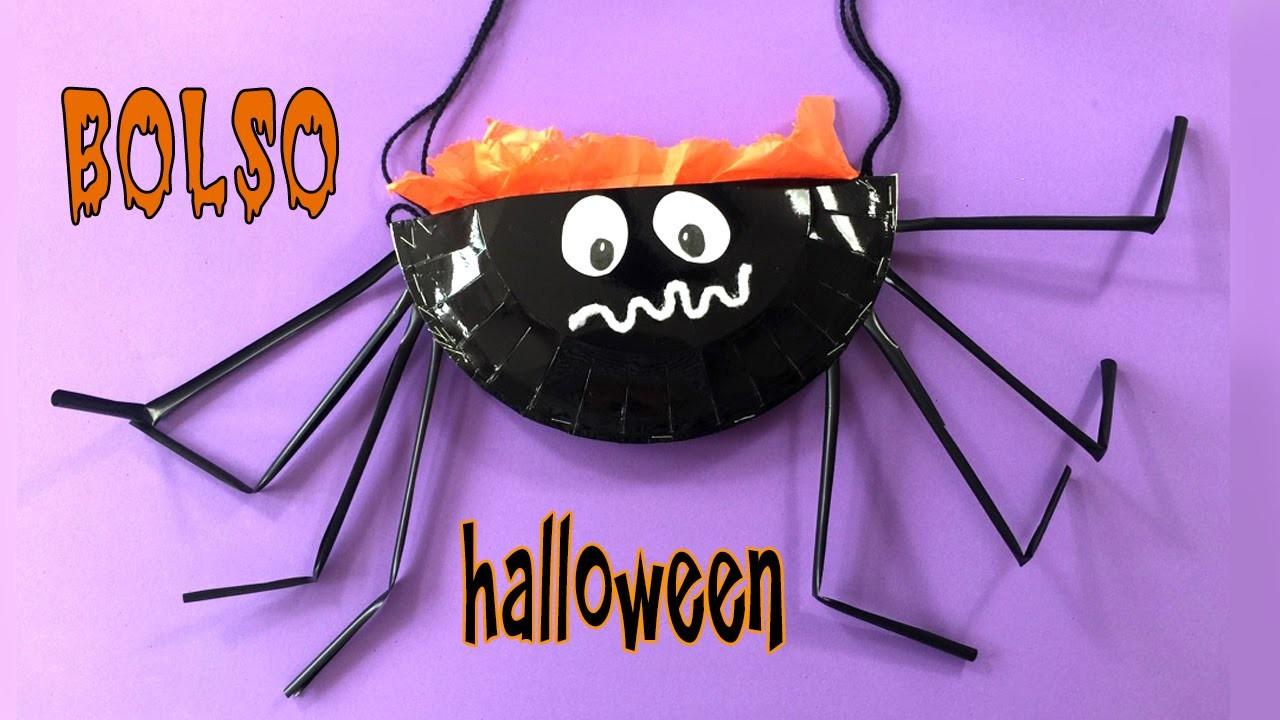 BOLSO araña * Manualidades de HALLOWEEN