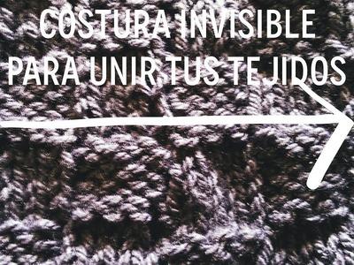 Cómo coser tu tejido con Costura Invisible. Soy Woolly