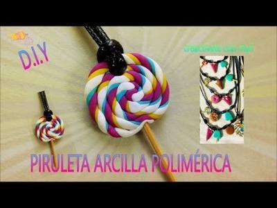 Como hacer piruleta o lollipop de arcilla polimérica, manualidades con fimo