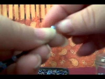 Cómo hacer un rosario hecho con canutillos y  chaquirones.