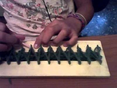 Como hacer una bufanda con el telar a punto cruzado