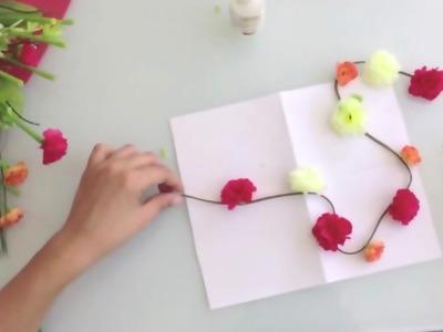 Cómo hacer una DIADEMA o CORONA de FLORES para el pelo