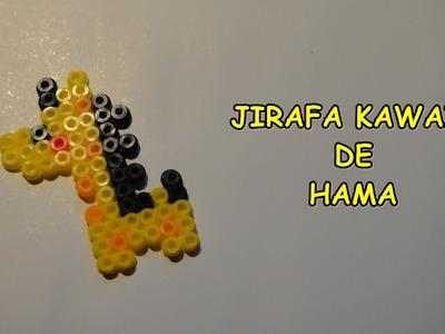 Cómo hacer una JIRAFA KAWAII de hama bead, pyssla, perler