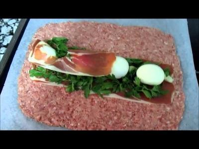 Cómo preparar un rollo de carne relleno