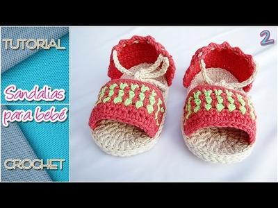 Cómo tejer sandalias a crochet para bebé, TODOS LOS TALLES (parte 2)