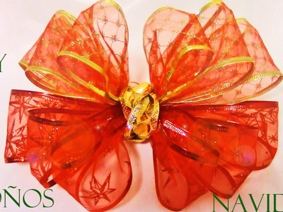 DIY como hacer moños de navidad en cintas - DIY Christmas ribbons easy and beautiful