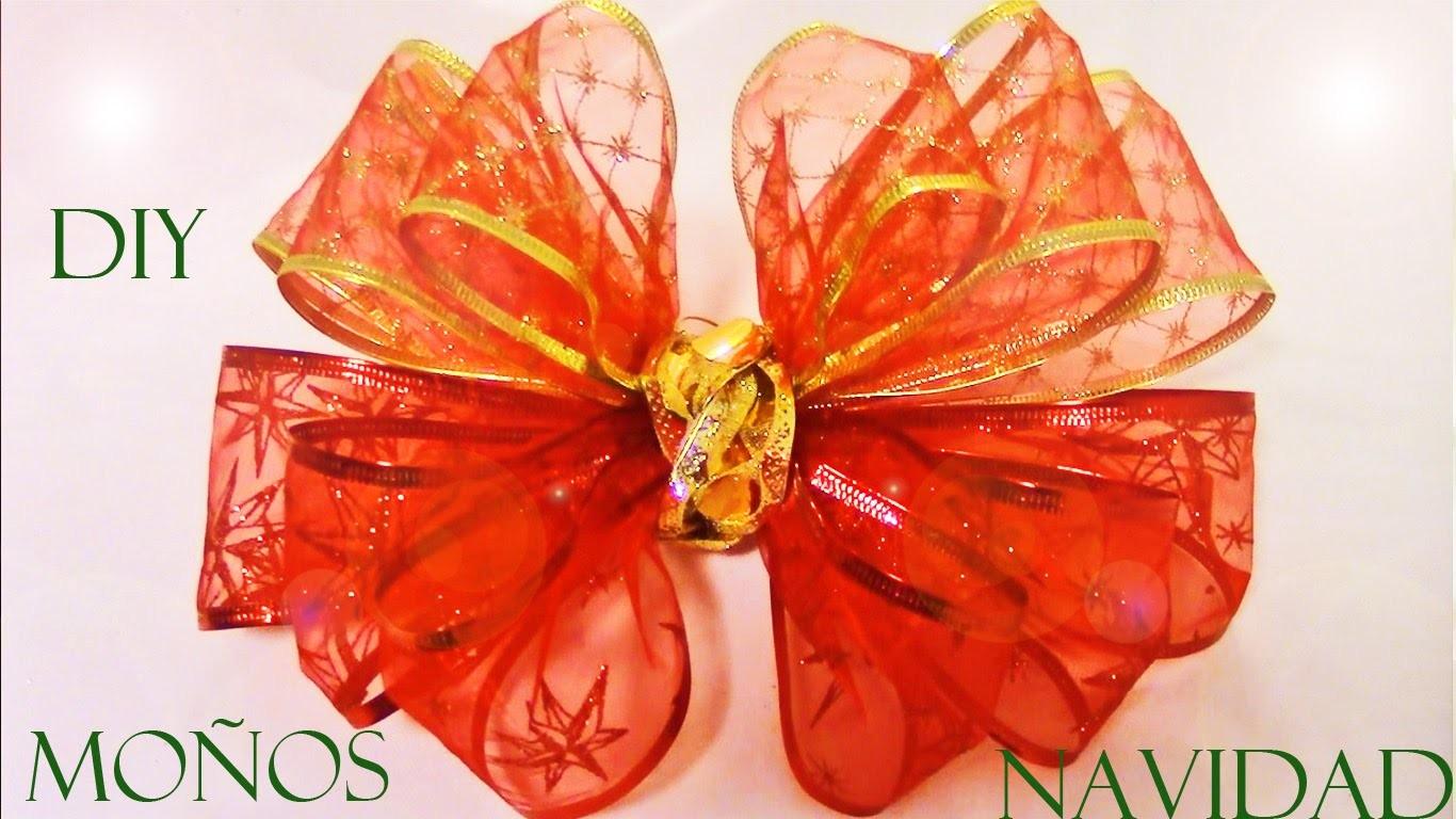 DIY como hacer moños de navidad en cintas - DIY Christmas ribbons easy and beautiful