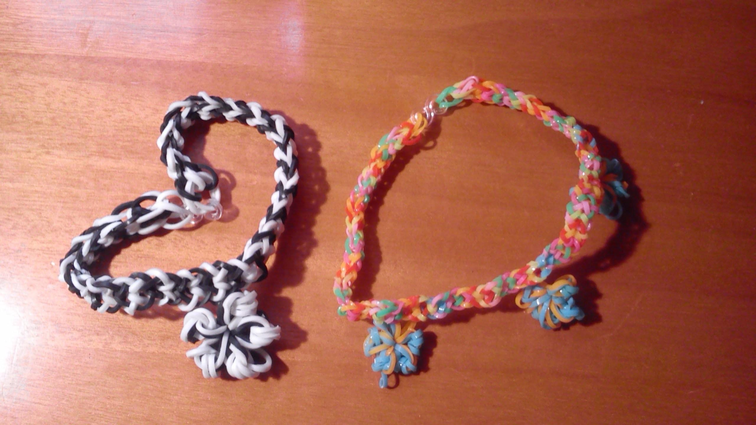 DIY: Como hacer una pulsera de otra forma con gomitas y una estrellita. Rainbow loom