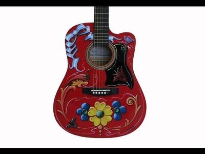 Fileteado Porteño - Guitarra por Ana Knoll - Manualidades para todos