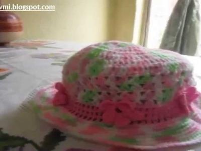 Gorra De Niña De Crochet parte 1