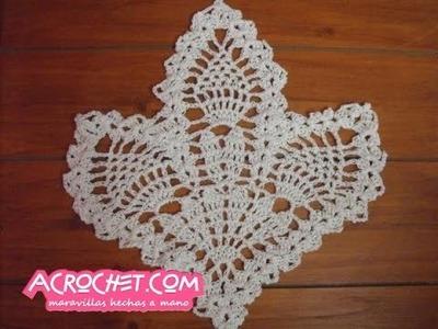 Guardasitio de 3 piñas tejido al crochet parte 3