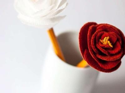 Haz Preciosas Flores para decorar Lápices - Hazlo tu Mismo Manualidades - Guidecentral