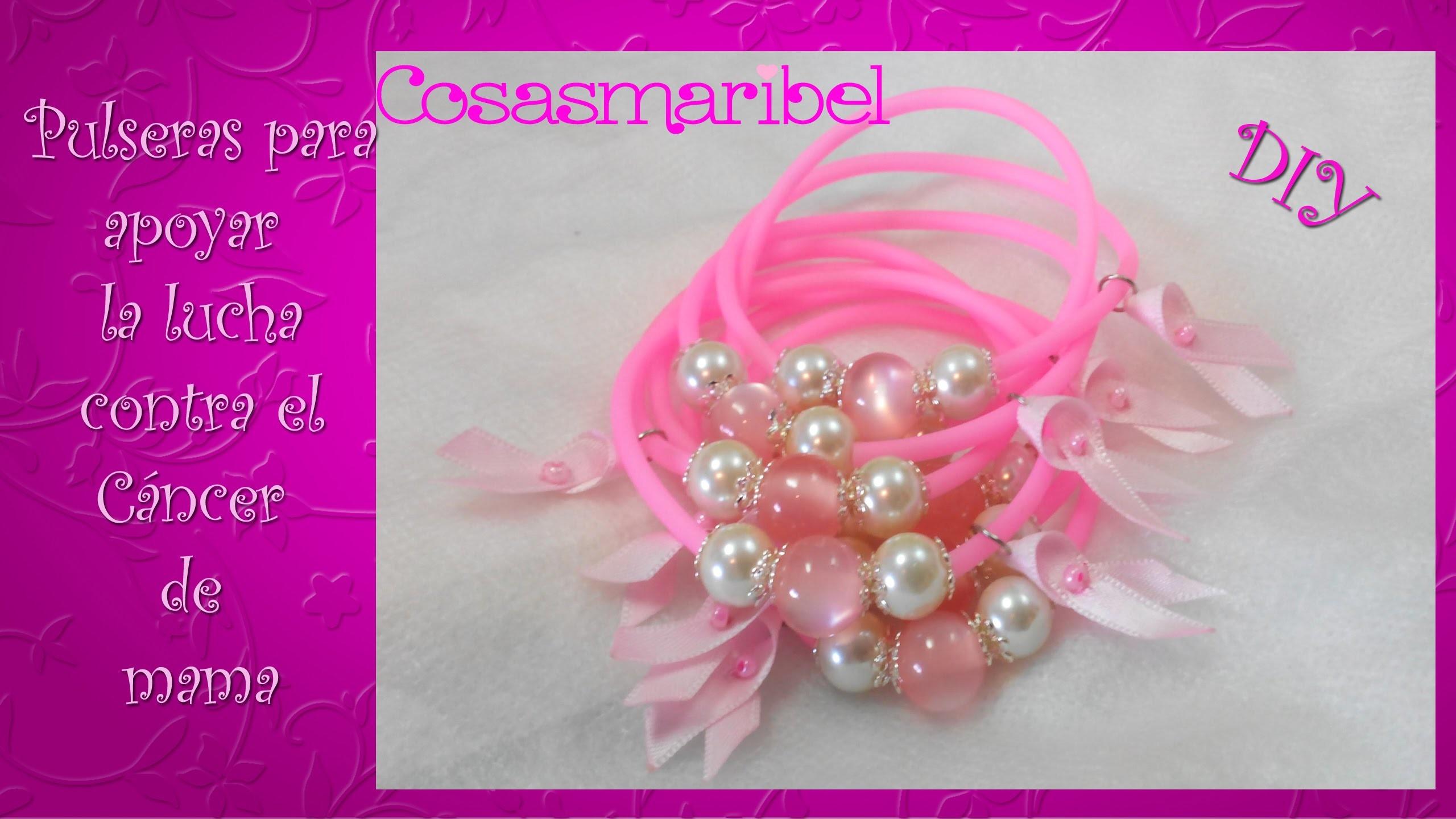 Haz pulseras para apoyar la lucha contra el cáncer de mama.
