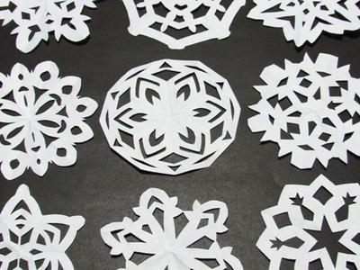Haz unos Bonitos Copos de Nieve con Papel - Hazlo tu Mismo Manualidades - Guidecentral