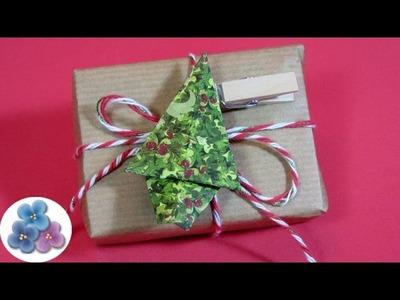 Manualidades: Arbol de Navidad Origami - Adornos Navideños 2015 DIY Pintura Facil