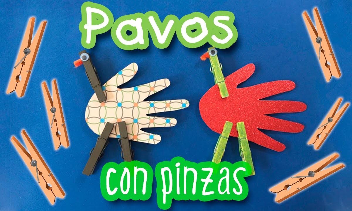 Pajaros con pinzas de tender * Manualidades para niños