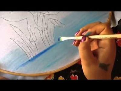 Pintura en tela ranita # 1 con cony