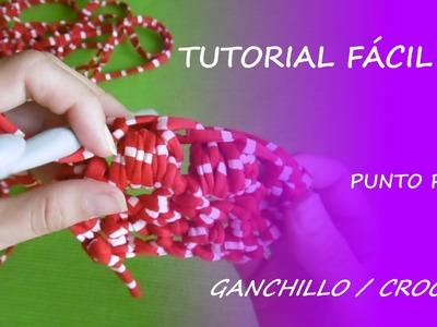 Tutorial cómo hacer punto puff con ganchillo - Fácil DIY