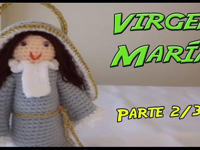 Virgen María de crochet Parte 2.3