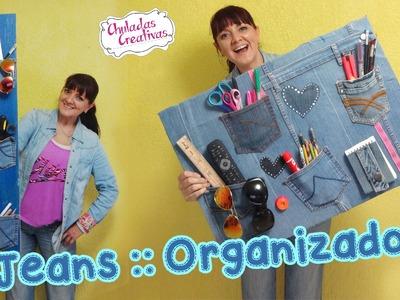Chuladas Crativas :: Organizador con Jeans :: Sammily Manualidades