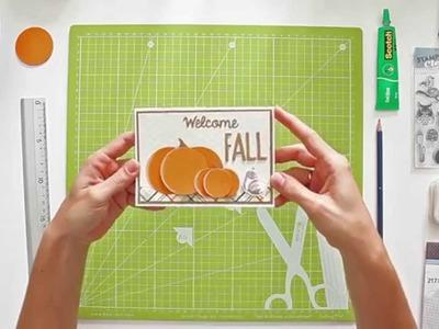 Cómo hacer calabazas con cartulina para decorar tarjetas - TUTORIAL Scrapbook