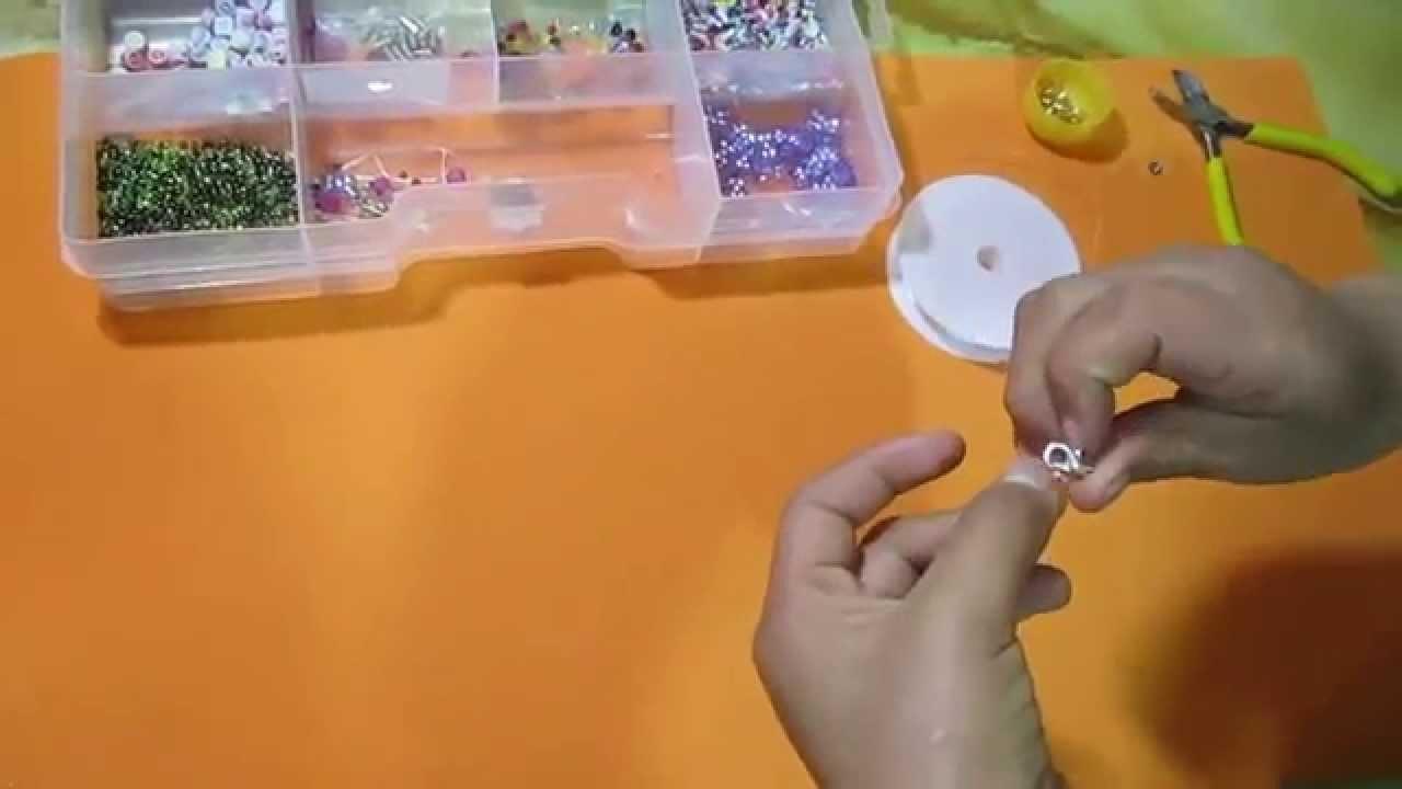 Como hacer pulseras de mostacillas paso a paso   tutorial Bisutería  How to make beaded bracelets
