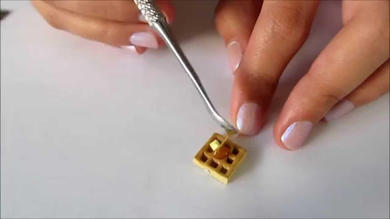 Como hacer waffles de arcilla polimérica tutorial de polymer clay