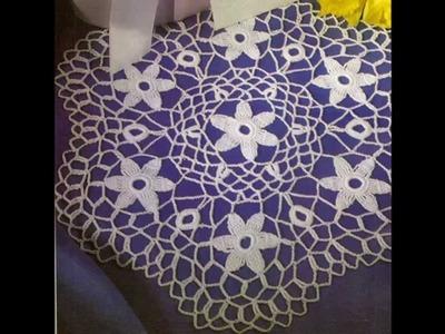 Como tejer carpeta de flores silvestres a crochet