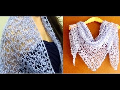 Cómo Tejer Chal de Encaje-Trailer-Knit Lace Shawl 2 Agujas (308)
