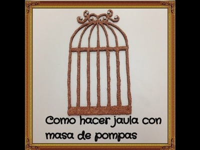 DIY como hacer jaula con masa modelable iclay (cage model