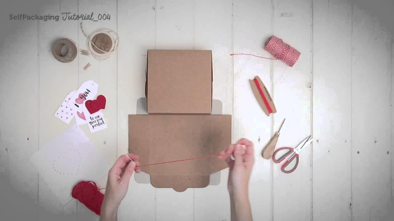 DIY decoración de regalos cosidos - SelfPackaging tutorial