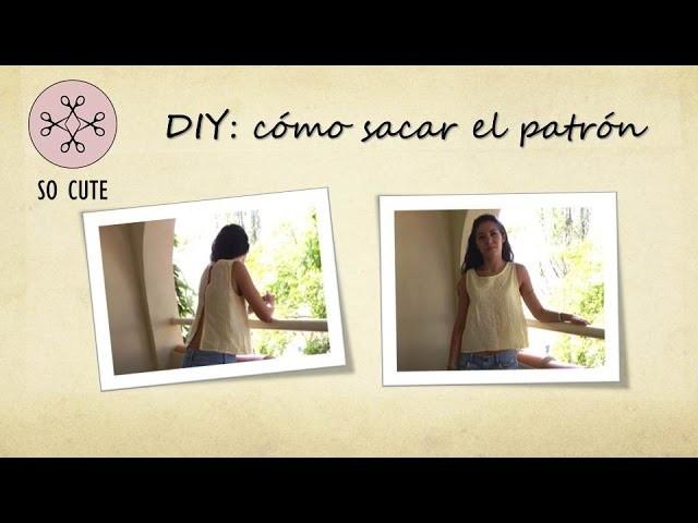 DIY. tutorial de costura: Blusa con la espalda abierta (I)